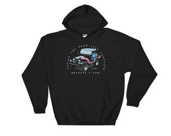 Jeep Hoodie Off Road All Terrain Hooded Sweatshirt by Dixie Cloth