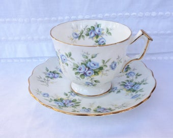 Aynsley Marine Rose Cup and Saucer
