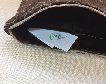 Velvety Brown clunch Bag
