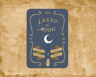 Lasso The Moon It's A Wonderful Life Wedding Invitation