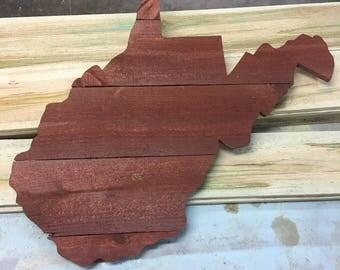 Handmade Wooden West Virginia Wall Hanging