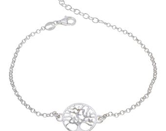 "Sterling Silver Tree of Life Bracelet 7"" to 8"" inches extendable"