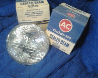 1948-55 sealed beam 6v headlight pair