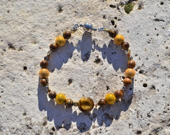 Bracelet Brown and yellow (Tiger's eye)