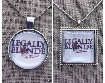 Broadway Musical legally blonde pendant .Legally Blonde jewelry .Legally Blonde Musical.Broadway play Legally Blonde
