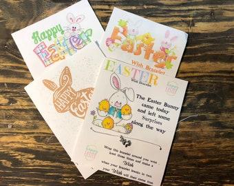 Easter wish bracelet.Easter Bunny charm bracelet.Easter basket stuffers.Bunny wish bracelet.Easter bunny card.