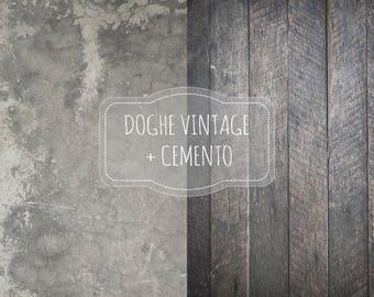 background for food photography-Mod VINTAGE + cement SLATS