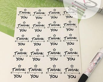 40 Thank You Stickers,  Perfect for parcels, packages, letters, Small Business, Order, Labels, Stickers, Birthday, Heart