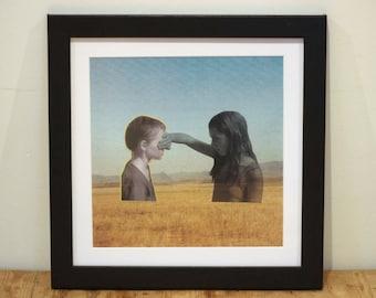 Peekaboo - Digital Collage Art Print Poster