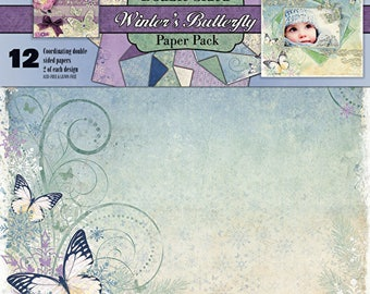Winter Butterfly Double Sided 12 x 12 Paper Pack