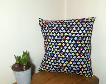 Ice Dyed Cushion, Tie Dyed Cushion, Envelope Cushion, Decorative Pillow, Psychedelic Cushion, Hand Dyed Cushion, Home Decor, Mushroom Pillow