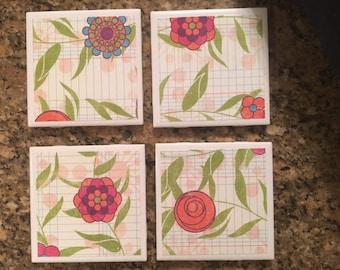 Ceramic Coasters ~ Set of 4