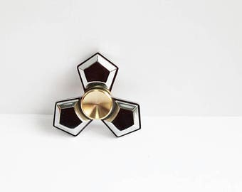 Premium Solid Brass Fidget Spinner Dipped in Chrome Heavy Quiet Unbreakable No Rust