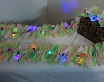 Pink and Green 6ft Battery operated Easter Garland