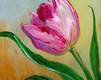 Tulip Original Acrylic Painting