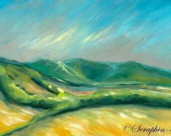 Landscape Original Gouache Painting
