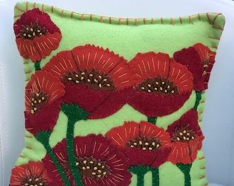 Poppy decorative pillow
