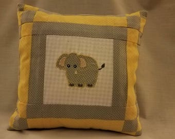 embroidered pillow,  babys room, baby shower