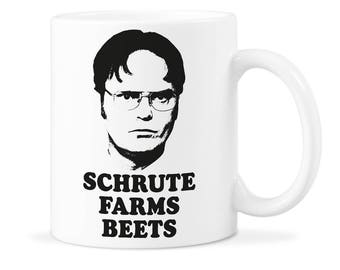 Schrute Beets Cup Schrute Office Gift Schrute Farms Beets Schrute Farms Cup Dwight Schrute Cup Schrute Beets Mug Dwight Beet Cup
