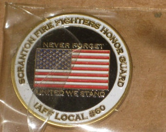 Scranton (PA) Fire Fighters Honor Guard Medallion  [cin159bt]