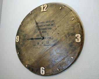 Jack Daniels Barrel Top Wall Clock
