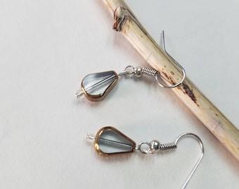 Clear & Gold Earrings