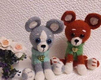Crochet dog in sweter  Soft toy for kids Pocket toy for children  Gifts for children Gifts for friend Stuffed animals  Gift to dog lovers