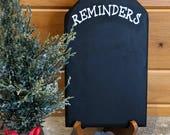 Reminder Chalkboard | Reclaimed Wood | Rustic Christmas Decor