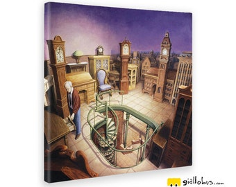 Quadri Stampe su Tela Canvas - Rob Gonsalves - Time Pieces - GIALLO BUS