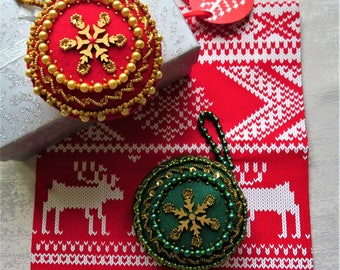 Handmade Christmas Tree Ornament (Felt & Beads)