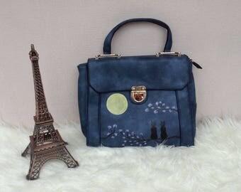 Handbag (cats under the moonlight)