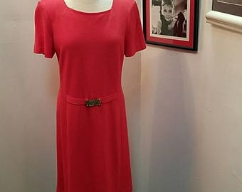 St John Collection 12 Coral Knit Dress