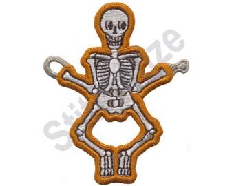 Skeleton - Machine Embroidery Design, String Along Design