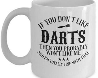 Darts Mug, Darts Cup, Darts Gift, Funny Coffee Mug, Darts Game, Darts Lover, Gift For Him, Darts Gifts, Gift For Her, Darts Coffee Mug