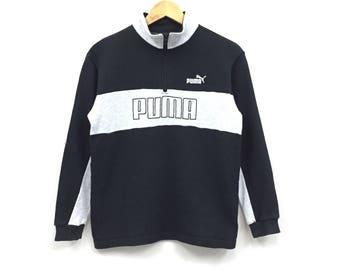Rare!!Puma big logo spellout embroidery