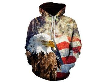 Eagle Hoodie, Eagle, Eagle Hoodies, Animal Prints, Animal Hoodie, Animal Hoodies, Eagles, Hoodie, 3d Hoodie, 3d Hoodies, Usa Hoodie Style 5