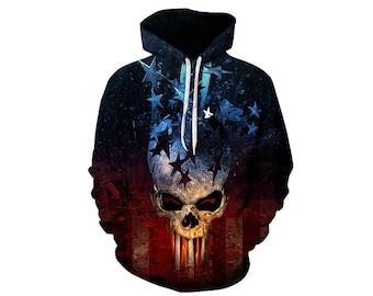 Skull Hoodie, Skull, Skull Hoodies, Skull Prints, Scalp Hoodie, Gothic, Skeleton, Skulls, Scalp, Hoodie, 3d Hoodie, 3d Hoodies - Style 13