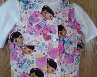 CLEARANCE! Size XS Weighted Vest for Child w/Special Needs and Sensory Issues. Doc McStuffins Print.