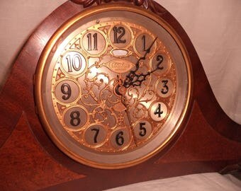 Vintage Telechron Revere Electric Westminster Chimes Clock  GOLD LACE