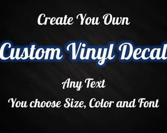 Vinyl Letter Decal Etsy - Custom vinyl decals for crafts