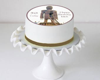 Horror Film Wicker Man Icing Cake Topper Personalised