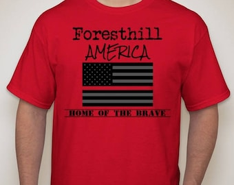Foresthill America Red T-Shirt