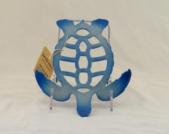 Medium Blue Turtle Trivet / Wall hanging