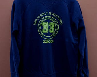 Vintage Adidas Impossible Is Nothing Sweatshirt Active Sport Wear Swag Sweater Size M