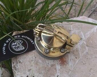 Сustom Gas tank caps brass cover Harley Davidson, Bobber, Chopper, Cafe Racer