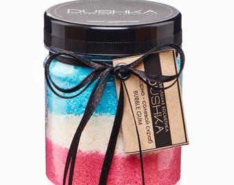 """Sugar-Salt Scrub for Body """"Bubble Gum"""", shower scrub, natural scrub, ecocosmetics"""