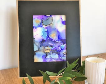 Alcohol Ink, Purple Abstract Art,  Ultra Violet Print, Modern Abstract Art, Abstract Wall Art, Abstract Print, Abstract Printable