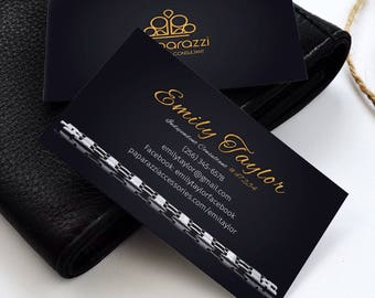 Paparazzi Business Cards, Paparazzi Jewerly Cards, Paparazzi Consultant Branding, Custom Business Card, Personalized