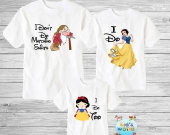 Funny disney couple shirts, I dont do matching shirts, I don't do matching shirts, snow white seven dwarfs  couple shirts, Disney shirts D47