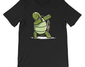 Cute Dabbing Tortoise T-Shirt Funny Pet Gift
